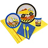 BirthdayExpress Construction Party Supplies - Party Pack for 24 Guests