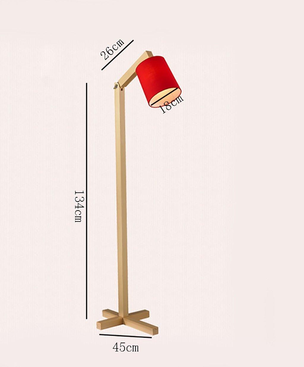 Amazon.com: QYJZI Floor Lamps European living room bedroom floor lamp/modern minimalist floor lamp/solid wood vertical floor lamp (Color : Red): Home & ...