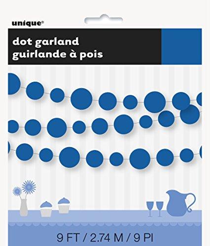 Paper Royal Blue Circle Garland