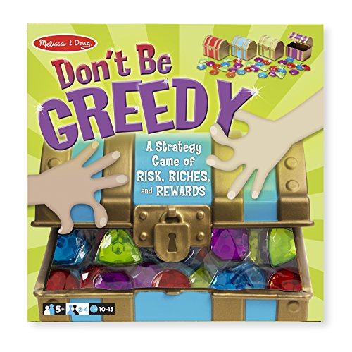 (Melissa & Doug Don't Be Greedy Strategy Game - 4 Treasure Chests, 33)