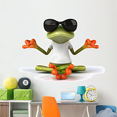 (Wallmonkeys WM362920 Frog with a White Tshirt Peel and Stick Wall Decals (72 in W x 48 in H), Colossal)