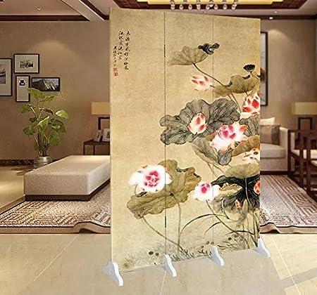 Fine Asianliving-Divisor de abitación-Mampara de ducha-Puertas corredizas-separadores de espacios-Panelese separadores-Tabique decorativo para habitaciones pantalla plegable de 4 paneles 122: Amazon.es: Hogar