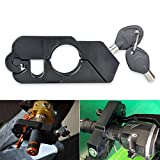TUINCYN Deep Cut Motorcycle Anti-Theft Lock Device Black CNC Aluminum Universal Motorbike Handlebar Grip Brake Lever Lock Anti Theft Security Caps Lock¨with 2 keys