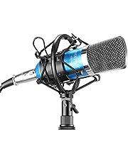 Neewer® NW-700Ensemble Micro à condensateur de diffusion et d'enregistrement pour Studio Professionnel incluant 1Micro NW-700 + 1 suspension anti choc + 1 bonnette en mousse anti-vent de type boule + 1 câble audio (Noir)