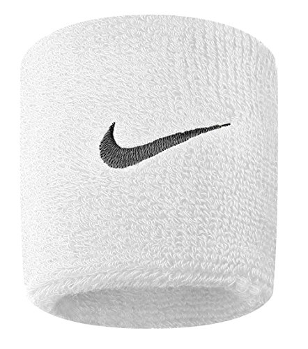 Nike Tennis Premier Wristbands (1 Pair, One Size Fits Most, White/Black)