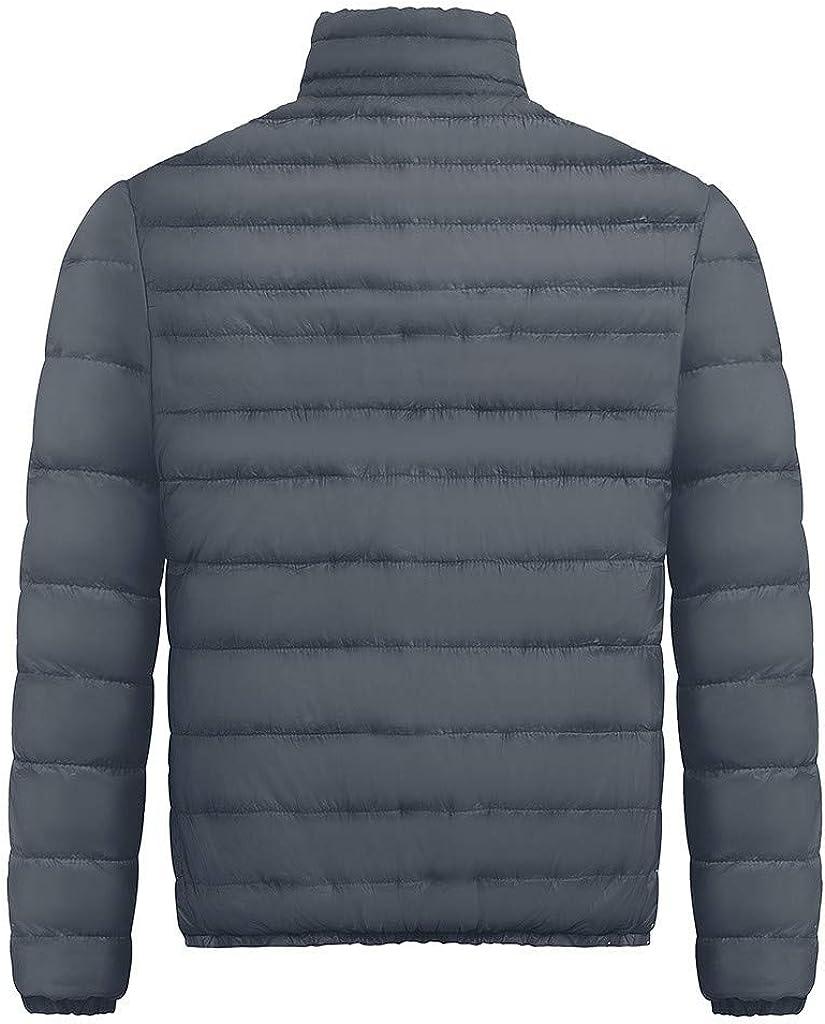 Ohbiger Mens Packable Insulated Light Weight Puffer Full Zipper Down Jacket