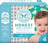 The Honest Company Club Box Diapers with TrueAbsorb Technology, Skulls & Breakfast, Size 4, 60 Count