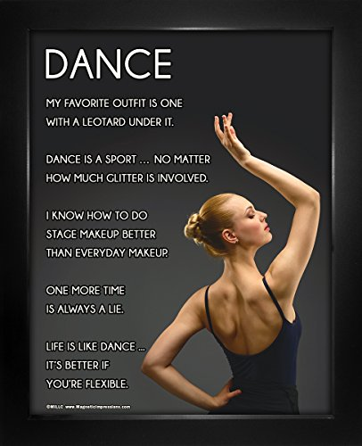 "Framed Dance Pose 8"" x 10"" Sport Poster Print by Posters and Prints by Magnetic Impressions"