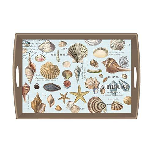(Michel Design Works Large Decoupage Wooden Tray, Seashells)