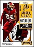 2018 Panini Contenders Season Tickets #2 Josh Norman NM-MT Washington Redskins Official NFL Football Card