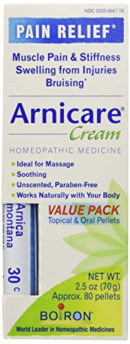 Arnica Cream Value Pack Cream and Arnica 30C Pellets Boiron 2.5 oz + 80 Cream + Pellet