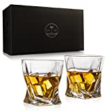 Twist Luxury Elegant Whiskey Glasses - The Wine Savant New Style Old Fashioned Drink Glasses - Glassware set - Scotch Brandy or Bourbon Tumblers, 12 oz.