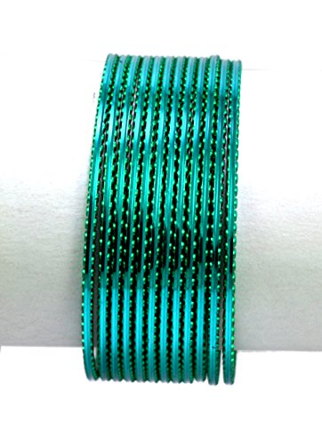 Green Color Indian Bollywood Fashion Casual Wear Metal Bangles Chudi