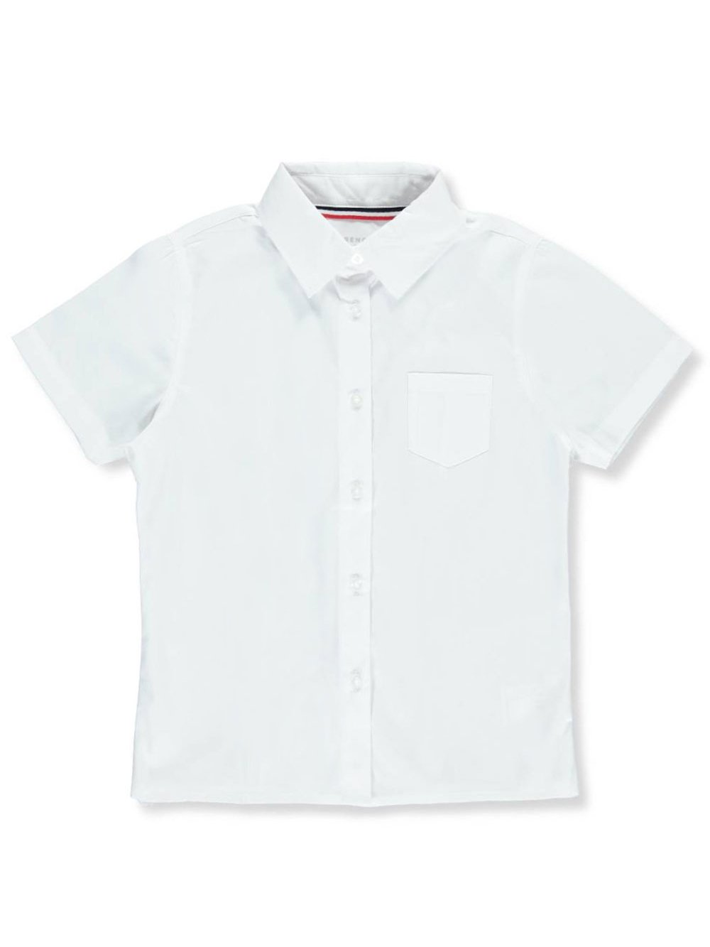 French Toast Little Girls' S/S Pocket Button-Down Blouse
