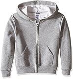 Jerzees Youth Full Zip Hooded Sweatshirt, Oxford, Small
