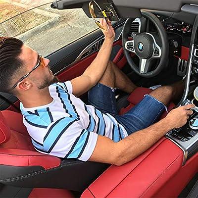 BLUPOND Sunglasses Holder for Car - Universal Sun Visor Dual Clip Organizer - 2 Pack: Automotive