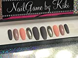 Peachy Keen Hand Designed Press On Nails
