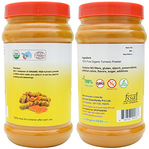 51NvsPiPgAL - Organic Turmeric Powder - 7Oz. ★ USDA Certified Organic ★ 100% Pure and Raw Organic Herbal Super Food Supplement. Non GMO. Gluten FREE. US FDA Registered Facility. ALL NATURAL!