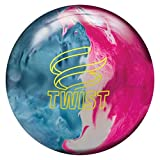 Brunswick Twist Reactive Pre-Drilled Bowling Ball, Sky Blue/Pink/Snow, 10