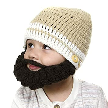 7c768e692a2 Amazon.com   Baby Tan Removable Beard Hat - Brunette