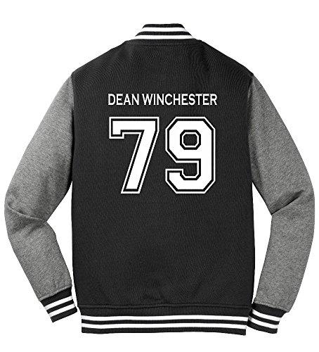 Adult Dean Winchester Sweatshirt Jacket (XX-Large, Black)