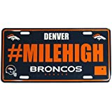 Siskiyou NFL Denver Broncos Hashtag License Plate, Blue