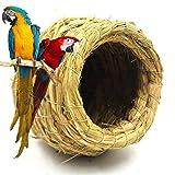 Gooday Handmade Parrot Straw Nesting Bird Nest House Hamster Rat Small Pet Nest House