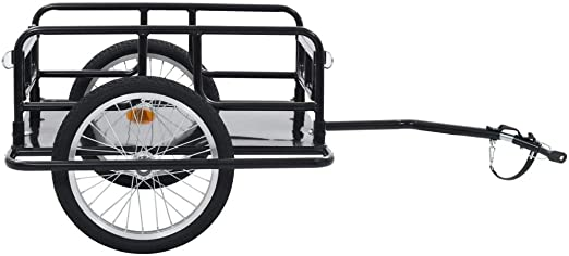 Festnight Remolque para Bicicletas Remolque de Carga para Bici ...
