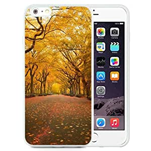 New Beautiful Custom Designed Cover Case For iPhone 6 Plus 5.5 Inch With Yellow Trees (2) Phone Case