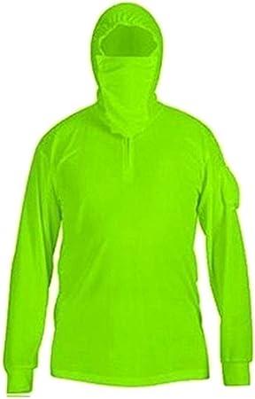 Teekit - Camisa de Pesca para Hombre y Mujer, protección UV, Manga Larga, Secado rápido, Transpirable, Verde Fluorescente, XXX-Large: Amazon.es: Hogar