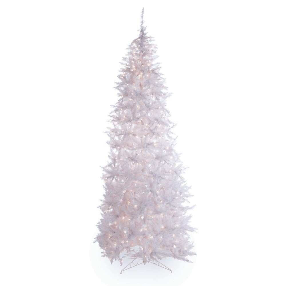 Artificial Christmas Tree. Fake Xmas Spruce With Densely, Lush Foliage & Medium Fir Shape. It's White Branches Looks Neat & Festively. Great For Indoor, Holiday Season Party Decor. (7.5, Multi)