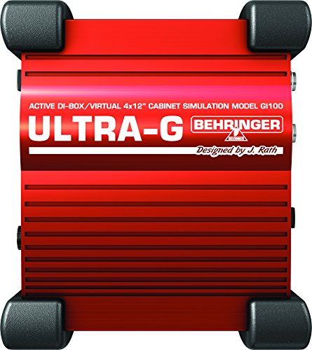 Hughes Guitar Amplifier - Behringer Ultra-G GI100 Professional Battery/Phantom Powered DI-Box with Guitar Speaker Emulation