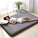 Tatami Floor mat,Traditional Japanese futon Japanese Bed Queen-King Dorm Thin Mattress Topper Washable-A