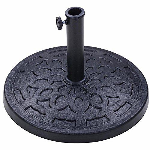Yescom 19.5-inch 31-lb Round Umbrella Base Heavy Stand Holder Fit for 8 9 10ft Patio Garden Umbrella Black ()