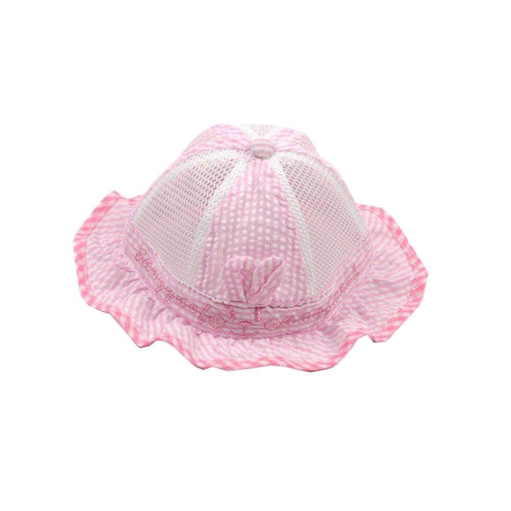 Amazon.com  Cute Baby Sun Protection Hat Infant Floppy Cap Cotton Sun Hat  0-3-6 months Pink  Baby f73ac7d1717