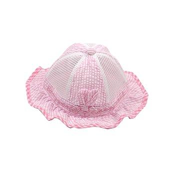 c74db18a4 Amazon.com: Cute Baby Sun Protection Hat Infant Floppy Cap Cotton ...