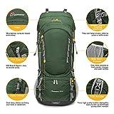 MOUNTAINTOP 80L Internal Frame Hiking Backpack