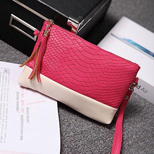 Spalla Clode® Colour Sacchetti Rosa Tote Di Borsa Caldo Sacchetto Del Nero Della Messaggero Nuove Donne Moda Dei colour 0REzg