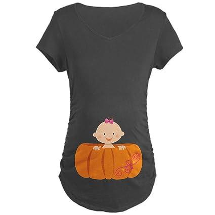 05d17d70ae4e2 CafePress Halloween Pumpkin Baby Pregnancy Maternity Tee at Amazon Women's  Clothing store: