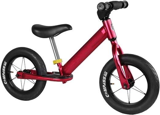 YUMEIGE Bicicletas sin Pedales Bicicleta de Equilibrio para niños Marco de Aluminio for Alturas de 31.4-47.2 Pulgadas for niños y niñas, Bicicleta Sin Pedales dirección de 360 ° (Color : Red): Amazon.es: Jardín