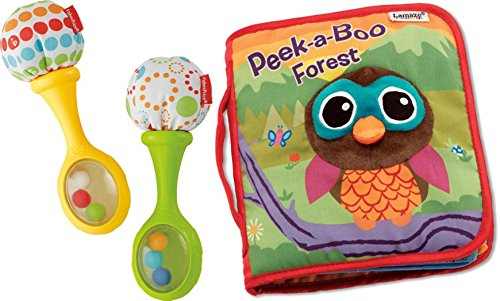 [Baby Rattle and Rock Maracas Musical Toy & Peek-A-Boo Forest Soft Book for Kids, 2 Pack] (Bacon And Egg Halloween Costume)