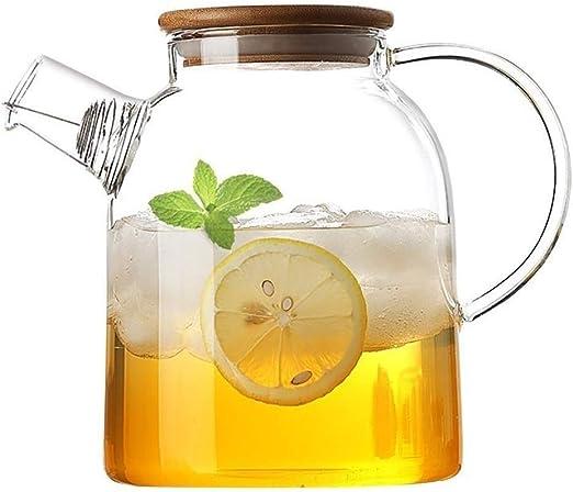 La jarra de vidrio es duradera 1800 ml, la botella de agua de ...