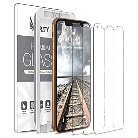 - 51Nvv53fgKL - Purity Screen Protector for Apple iPhone Xs/iPhone X – 3 Pack (w/Installation Frame) Tempered Glass Screen Protector Compatible iPhone Xs, iPhone X (3 Pack) [Fit with Most Cases]