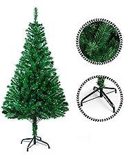 Sunjas Albero di Natale, Materiale PVC, vere pigne di abete 180cm