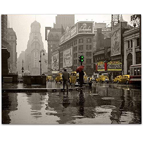 New York Reflections - 11x14 Unframed Art Print - Great Apartment/Home Decor Under $15