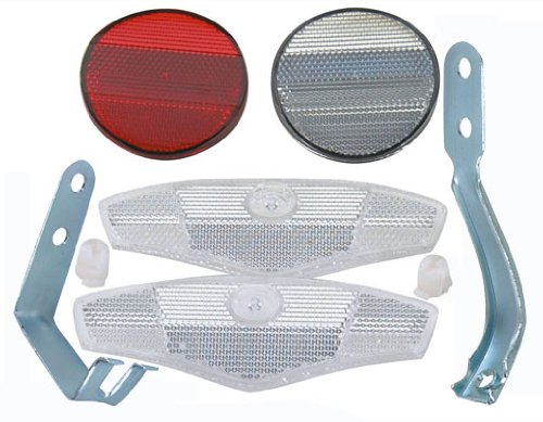 Reflector Set 4 Piece. Bike part, bicycle part, bicycle reflector, bike reflector, lowrider bike part, lowrider bicycle part, beach cruiser, bmx, chopper, stretch.