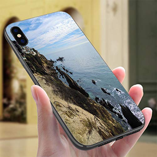 (Creative iPhone Case for iPhone Xs MAX New Port Beach California United States Stock Image Resistance to Falling, Non-Slip,Soft,Convenient Protective Case)