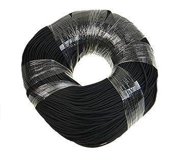 Kautschukband 3mm schwarz rund 10m Kautschukkette Kautschukschnur Kautschuk NEU