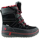 Santana Canada Women's Pike Short Pull On Boot,Black Crazy Horse Leather/Suede,U