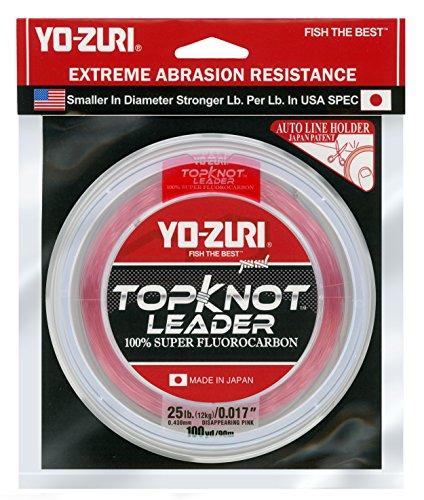 (Yo-Zuri Topknot 100 yd Sinking Leader, Disappearing Pink, 25 lb)